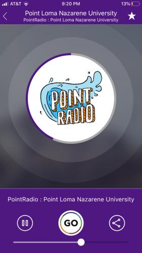 Point Radio on the Radio FX App